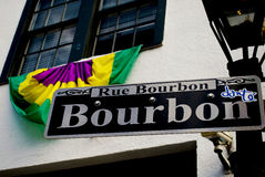 Bourbon Street. World famous Bourbon Street in the French Quarter of New Orleans Royalty Free Stock Photo