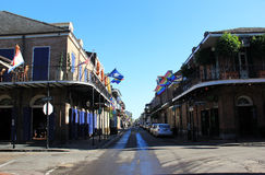 Bourbon Street by Day. A glimpse of Bourbon Street during the daytime Stock Image