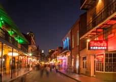 Bourbon Street at dusk Stock Photography