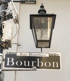 Bourbon Street Famous Downtown French Quarter Louisiana Royalty Free Stock Photography