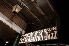 Bourbon Street houses Royalty Free Stock Image