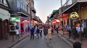 Bourbon street. Jazz French quarter New Orleans royalty free stock photos