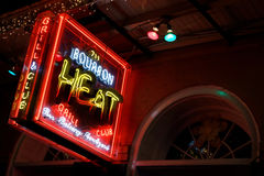 Bourbon Street lights Stock Images
