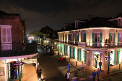 Bourbon street in New Orleans Stock Photo