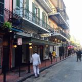 Bourbon Street in New Orleans. The restaurant Galatoire's on the Bourbon Street in New Orleans, Louisiana, USA royalty free stock images