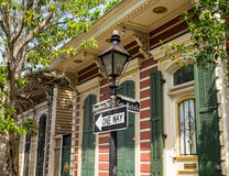 Bourbon street sign. In the French Quarter in New Orleans, Louisiana Royalty Free Stock Images