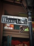 Bourbon Street. Street sign in New Orleans Stock Photography