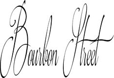 Bourbon Street sign Stock Images