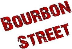 Bourbon Street sign Stock Photo