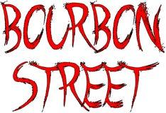 Bourbon Street sign Royalty Free Stock Photos