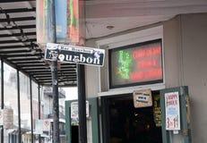 bourbon ulica Obrazy Stock