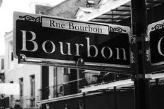 Bourbon ulica, Nowy Orlean zdjęcia stock