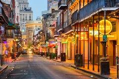 Bourbon ulica Nowy Orlean zdjęcie stock