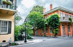 Bourbon ulica, Nowy Orlean, Luizjana Stara dziejowa dzielnica francuska zdjęcia royalty free