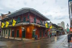 Bourbon ulica w dzielnicie francuskiej, Nowy Orlean zdjęcie royalty free