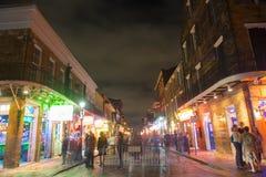 Bourbon ulica w dzielnicie francuskiej, Nowy Orlean fotografia stock