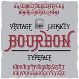 Bourbon Vintage Whiskey Typeface Poster Stock Photography