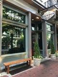 Bourbon Whiskey Bar, Columbia, South Carolina. Bourbon Whiskey Bar located on Main Street in Columbia, South Carolina royalty free stock images