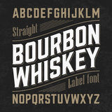 Bourbon whiskey label font Royalty Free Stock Photos
