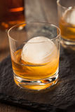 Bourbon Whiskey with a Sphere Ice Cube Royalty Free Stock Photos