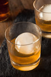 Bourbon Whiskey with a Sphere Ice Cube Stock Photography