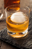 Bourbon Whiskey with a Sphere Ice Cube Royalty Free Stock Image