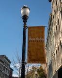 Bourbondistrict in Louisville stock afbeeldingen