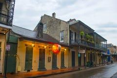 Bourbongata i den franska fjärdedelen, New Orleans Arkivbilder
