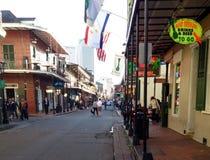 Bourbongata New Orleans Louisiana Arkivbilder