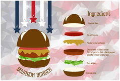Bourbonhamburger Stock Fotografie