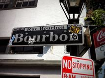 Bourbonstraat stock afbeelding
