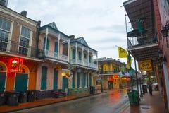Bourbonstraat in Frans Kwart, New Orleans royalty-vrije stock afbeelding