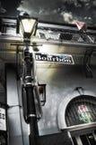 Bourbonu znak uliczny w Nowy Orlean obraz royalty free