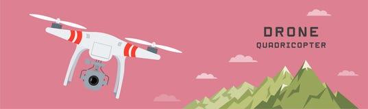 Bourdon aérien à distance avec un appareil-photo Image libre de droits