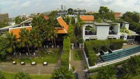 Bourdon aérien de station de vacances de fantaisie à Bangkok banque de vidéos