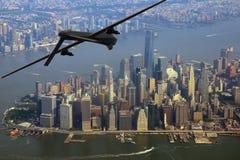 Bourdon au-dessus de New York City photos stock