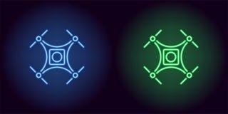 Bourdon au néon dans la couleur bleue et verte Images stock