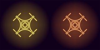 Bourdon au néon dans la couleur jaune et orange Image stock