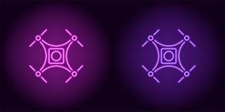 Bourdon au néon dans la couleur pourpre et violette Photo libre de droits