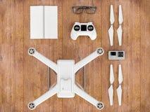 Bourdon avec des dispositifs de contrôle illustration 3D illustration de vecteur