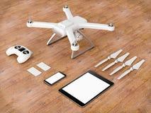 Bourdon avec des dispositifs de contrôle illustration 3D illustration stock