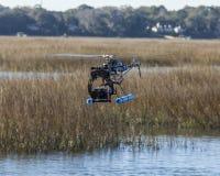 Bourdon d'hélicoptère avec l'appareil-photo Photo stock