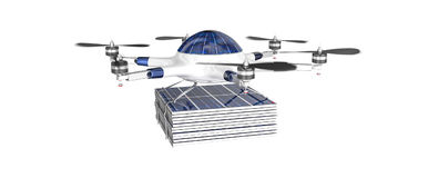 Bourdon de vol avec le panneau photovoltaïque Photographie stock
