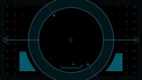 Bourdon HUD fait une boucle, canal alpha, bleu banque de vidéos