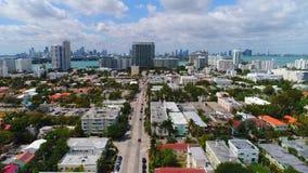 Bourdon Miami Beach aérien 4k banque de vidéos