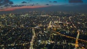 Bourdonnement de laps de temps de paysage urbain de Tokyo banque de vidéos