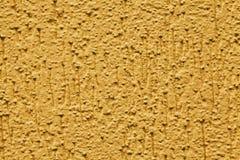 Bourdonnement jaune de mur de stuc photos libres de droits