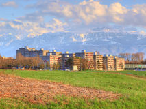Bourdonnette suburb, Lausanne Royalty Free Stock Photography