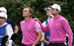 Bourdy and Luiten at the Seve Trophy 2013 Stock Image