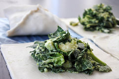Bourekas with kashkaval cheese and spinach Royalty Free Stock Images